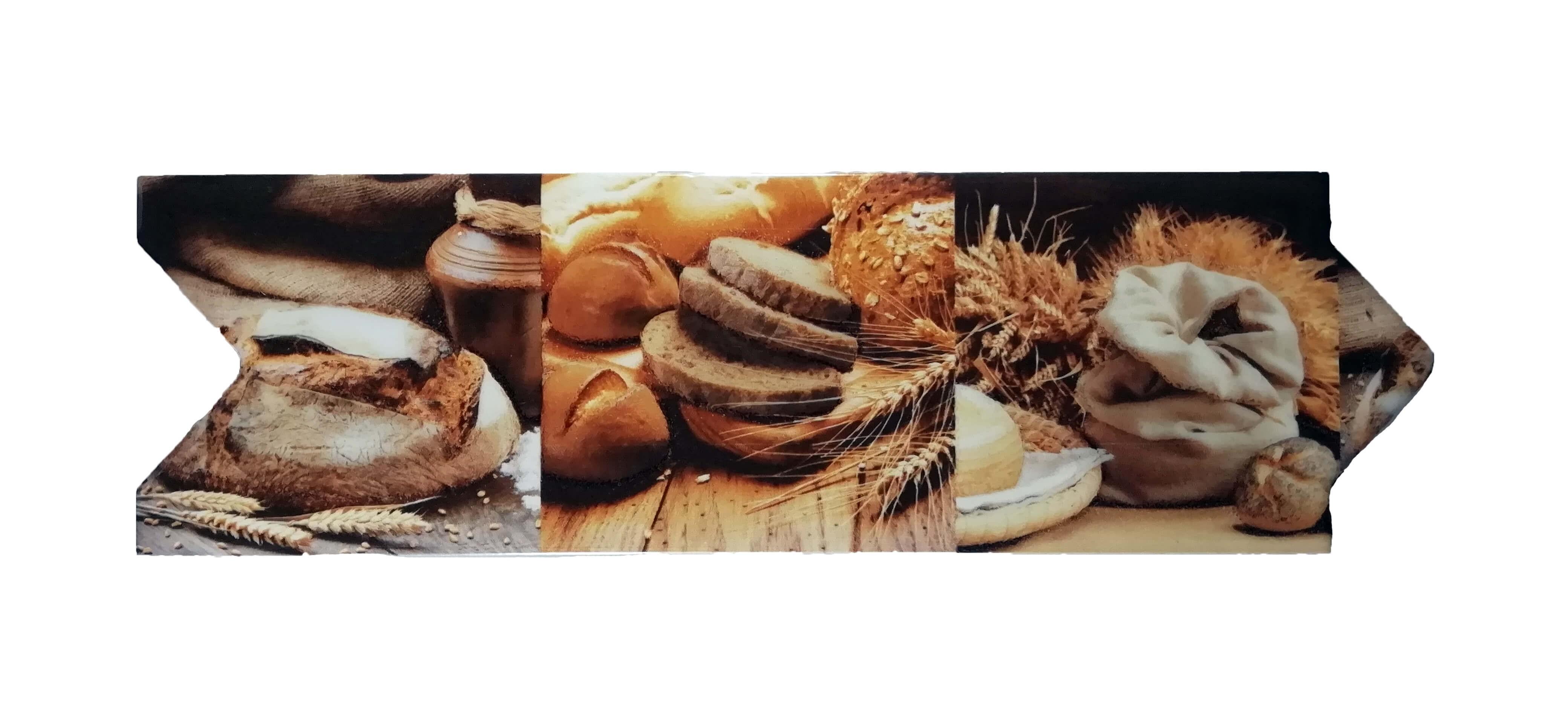Cenefa trigo para cocina tipo Flecha Vitrosa 8x25 cm Alcesa
