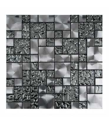Metal Aqua Malla decorativa para pared 30x30cm Alcesa - Ecart